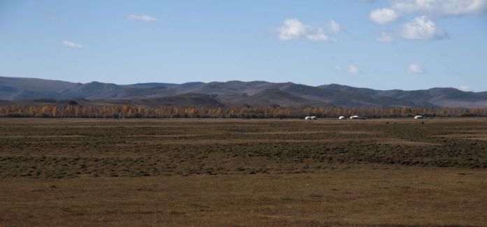 typical landscape in Mongolia