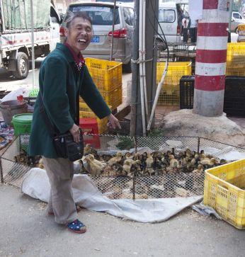 on a market